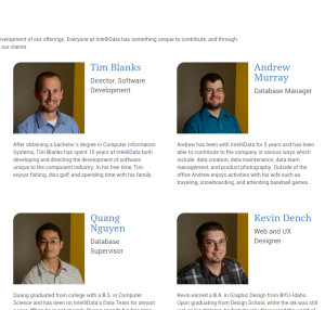 This is a cropping of the IntelliData team page, which didn't exist in the old site