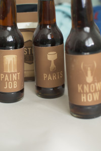 Bottle labels for Restore Cola done by Kevin Dench