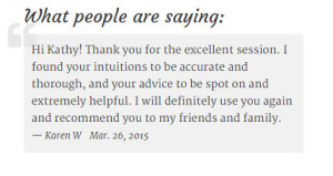 The sidebar testimonials on Your Light Shine