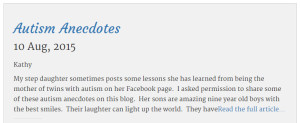 This is what the featured post looks like in the blog section of Your Light Shine