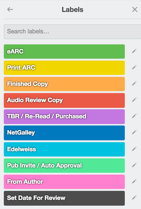 How I Organize My ARCs Using Trello