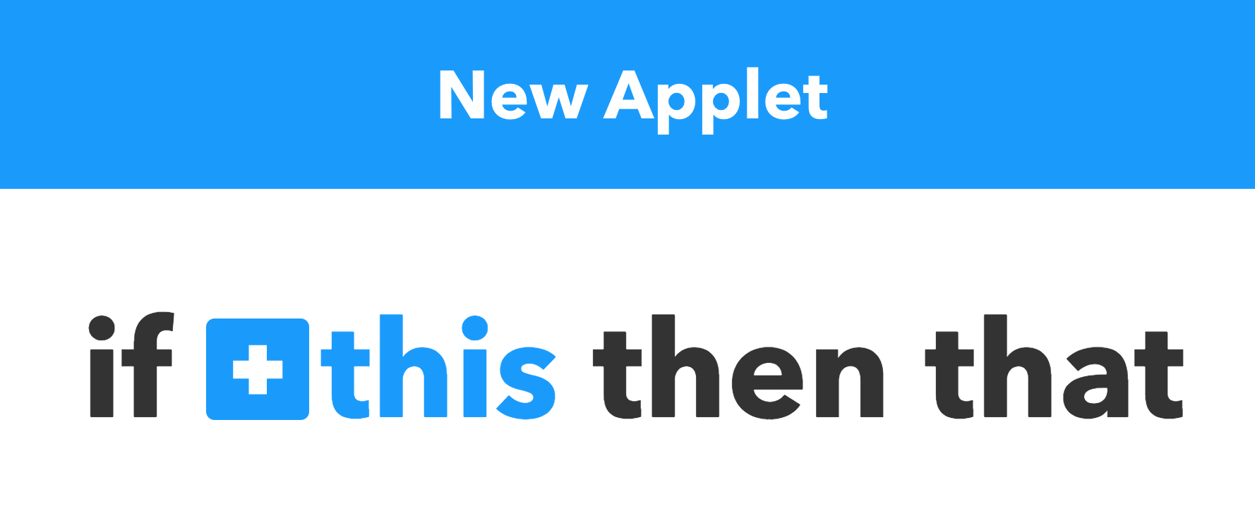 IFTTT Insta New Applet