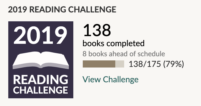 Goodreads Challenge Sept. 19
