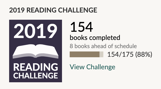Goodreads Reading Challenge October 2019