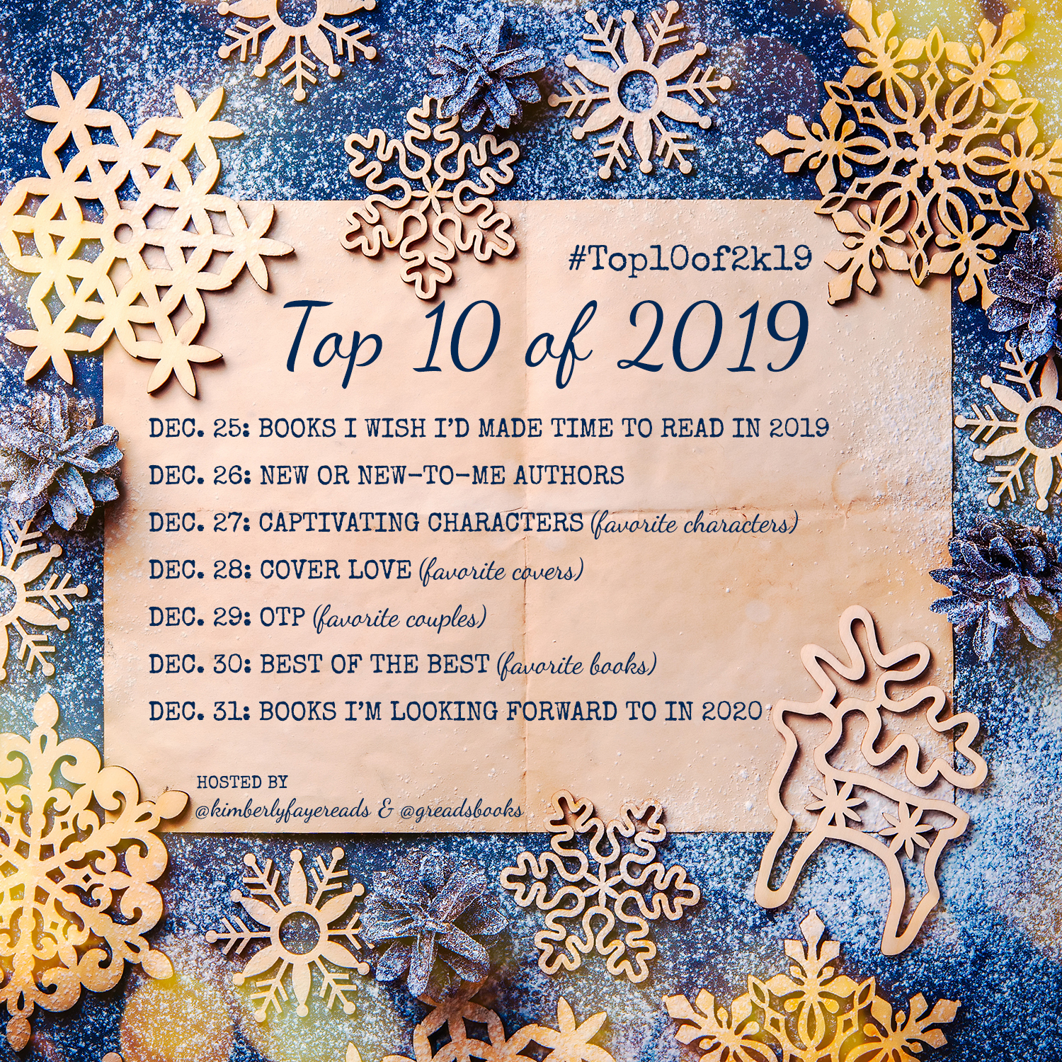 Top 10 of 2019: Announcement and Sign-Up