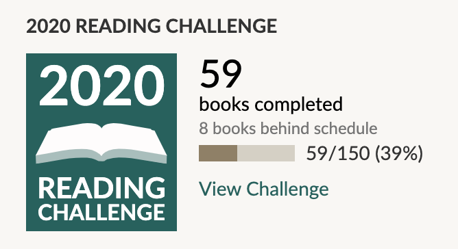 Goodreads Challenge May 2020