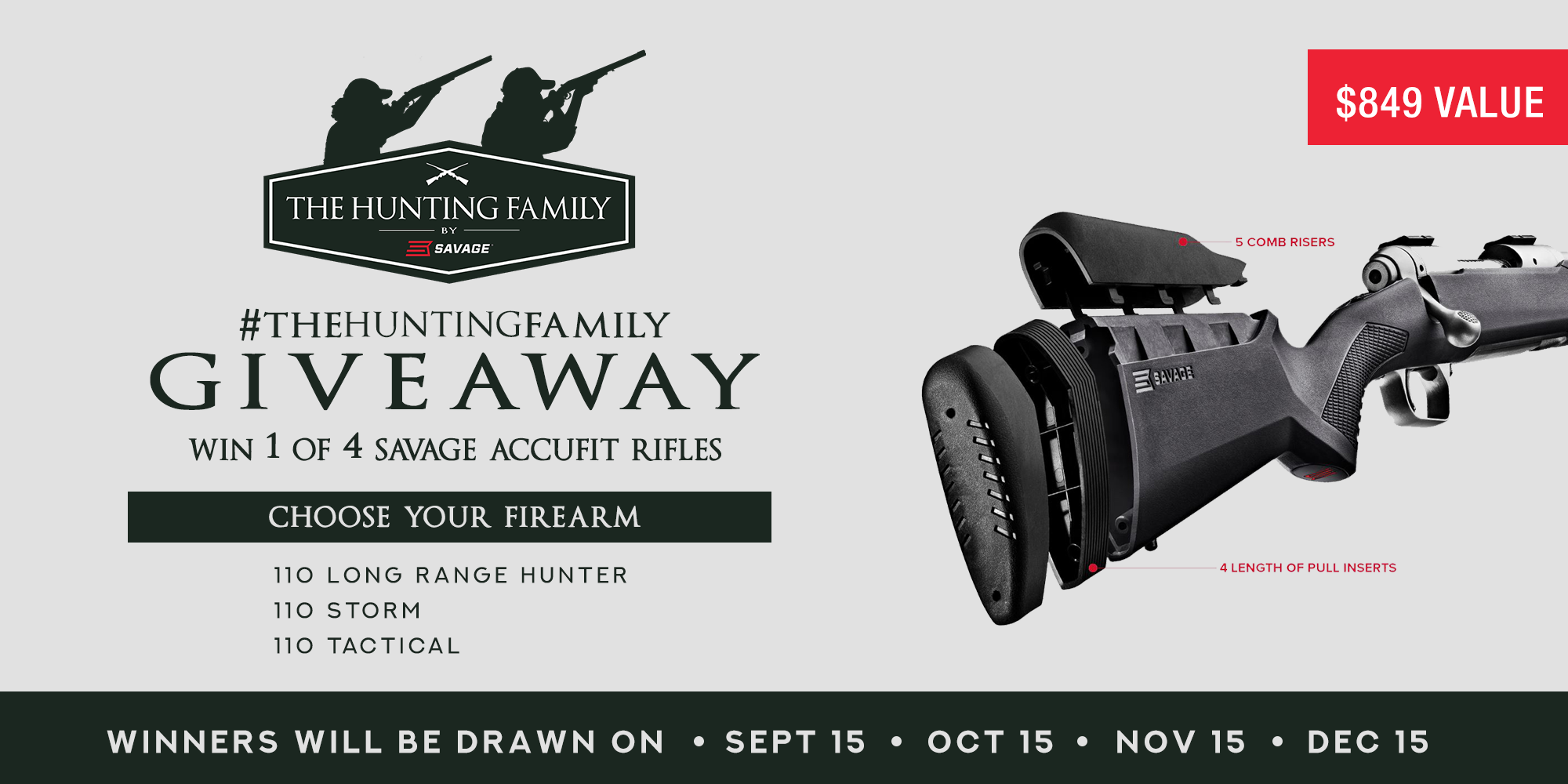 Savage Rifle Giveaway