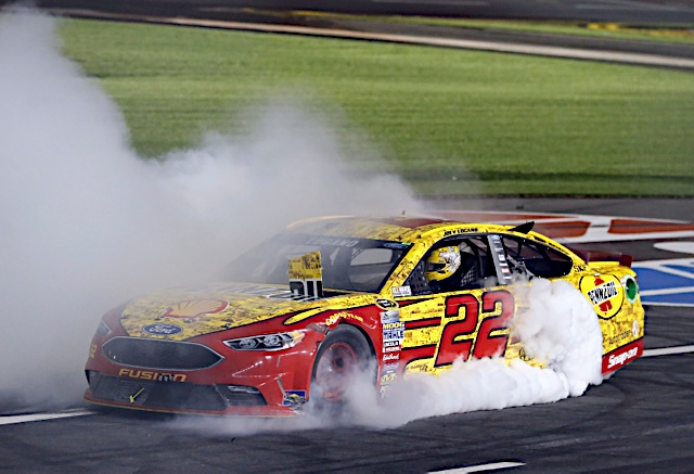Joey Logano wins in scintillating NASCAR Sprint All-Star Race finish
