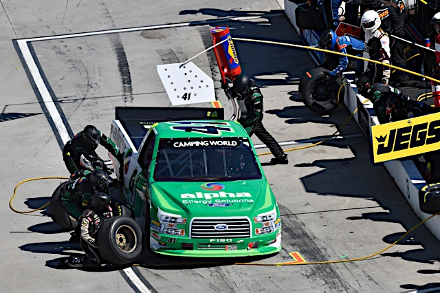 Pit stops plague Martinsville performance for Rhodes