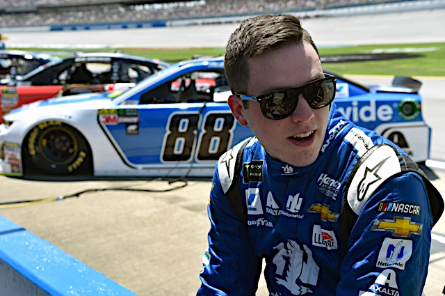 Bowman Happy to Lead Laps in No. 88 at Talladega