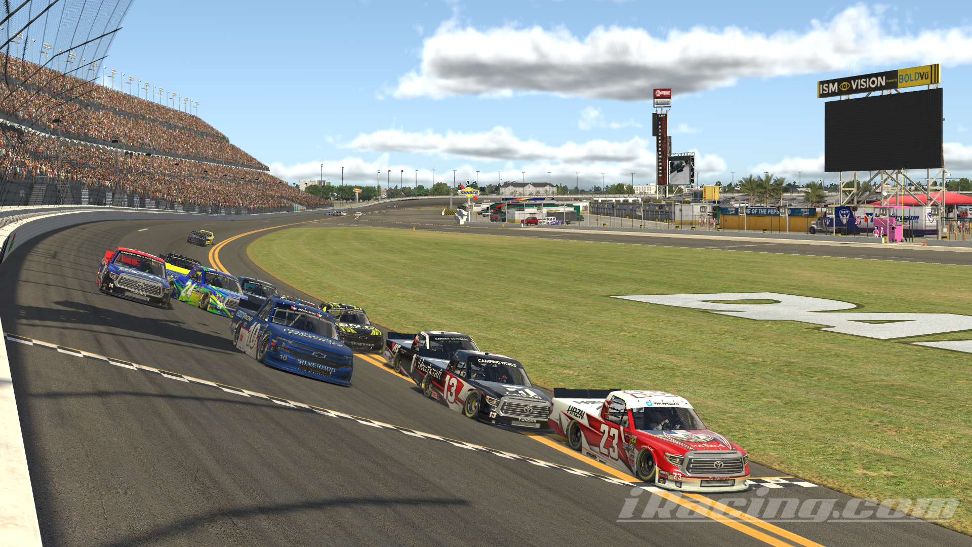 Lopez times it right, wins eNASCAR iRacing Road to Pro opener