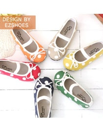 Dot Ribbon Flat Shoes