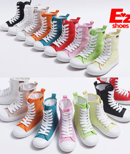 Long High Top Canvas Children Shoes