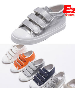 Basic Three-band Velcro Children Shoes