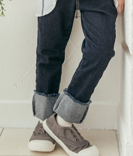 Denim Roll-up Pants
