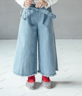 Ribbon Baggy Pants