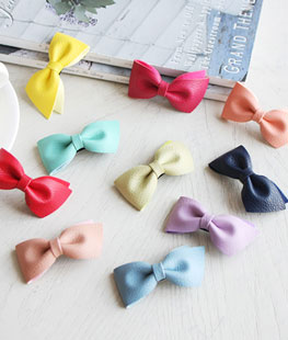 Leather Ribbon Hairpin [set of 10]