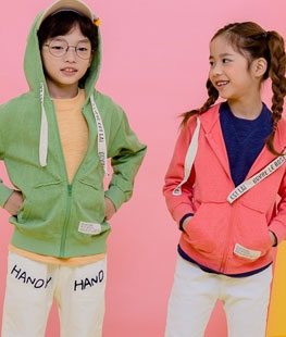 Color Hood Zip-up
