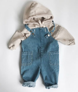 206 Stone Wash Denim Overall