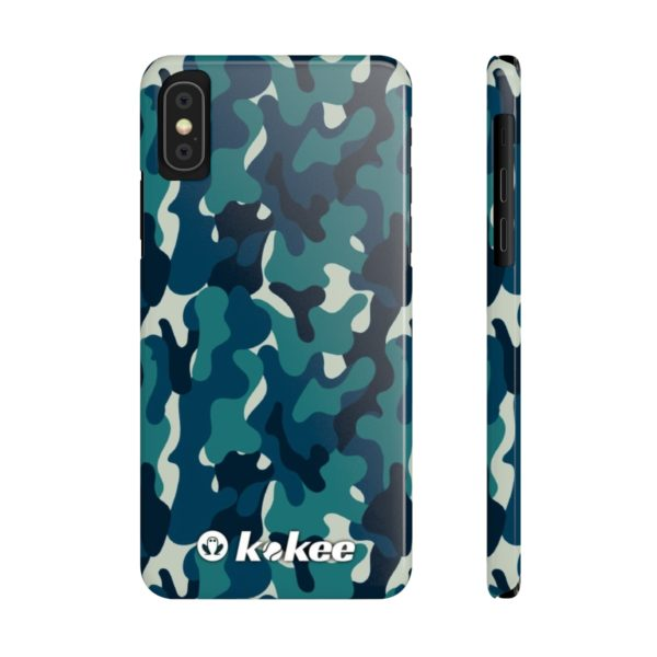 Kokee Camu Mate Slim Phone Case Blue