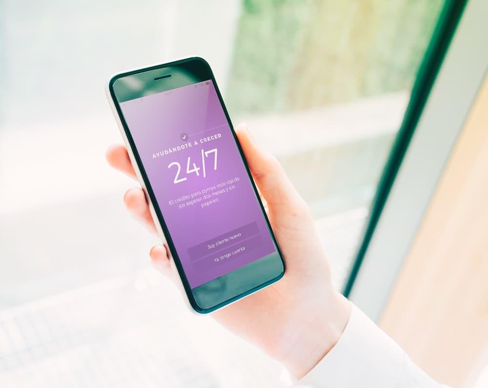 La app de crédito en línea Konfío