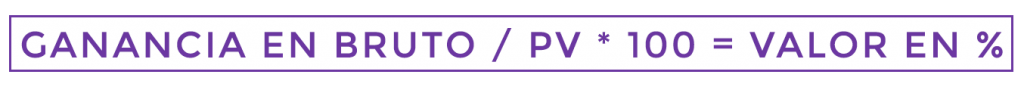 formula ganancia en bruto para pyme