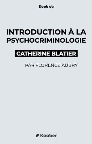 Introduction à la psychocriminologie