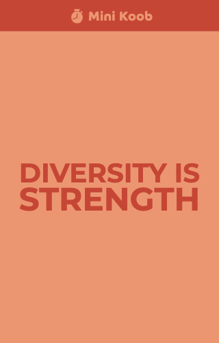 Diversity is Strength