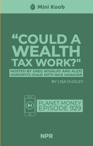 """Could a Wealth Tax Work?"""
