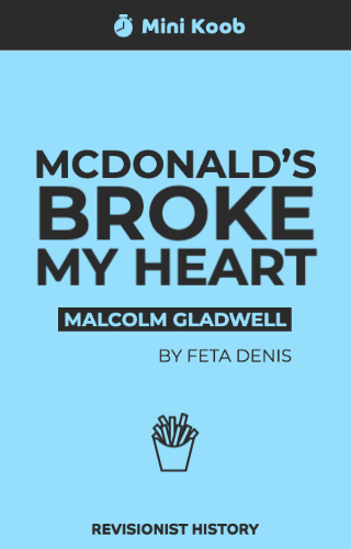 McDonald's Broke My Heart