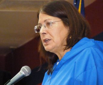 Alaska Federation of Natives President Julie Kitka addresses the Feb. 22, 2012, Native Issues Forum in Juneau.