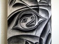 Detail of Argillite Totem