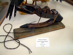Raven w/ Man Halibut Hook