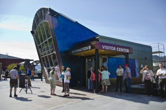 The new downtown Visitor's Center
