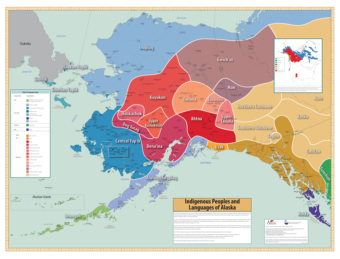 Alaska Native languages map