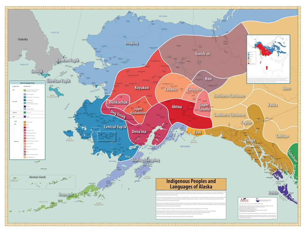 Alaska Native languages map - KTOO