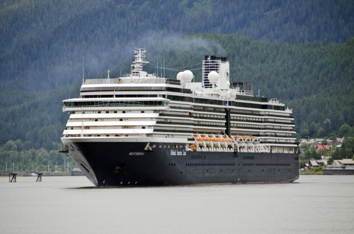 The Holland America Cruise Ship Westerdam prepares to dock in Juneau July 16, 2012.