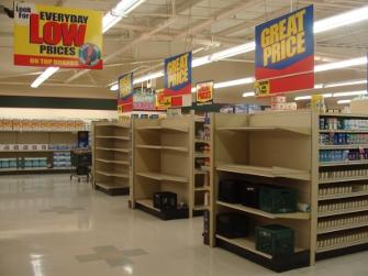 Foodland shelves