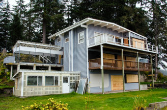 The house on Otter Run sits in a cul de sac over looking Auke Bay.