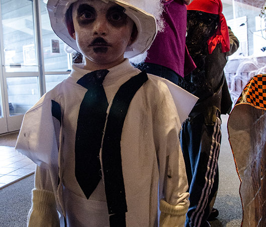 Gainni, 4, came as a ghost. His favorite part of Halloween is going trick-or-treating.