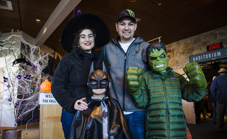 A family of fun: Carly and Brian brought Rhys, Batman, and Dylan, the Hulk.