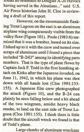 B-24 down at Kiska