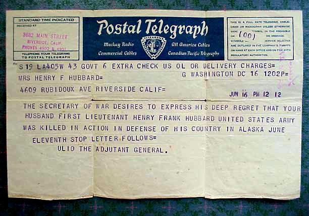 Notification telegram.