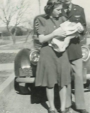 Esther, Gail, and Lt. Henry Hubbard.