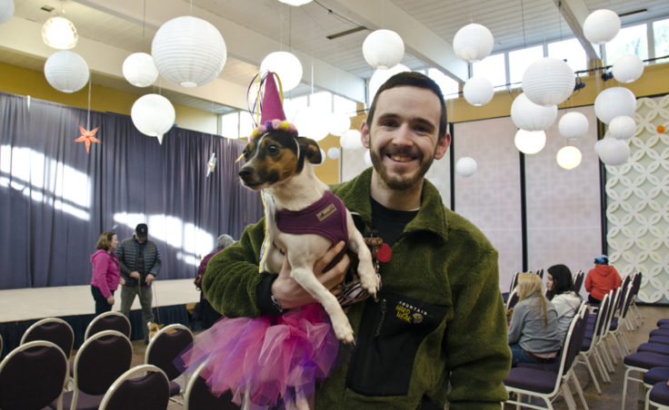 Begley, pictured with Matt Paskowski, competed in the costume contest as a Fairy. Matt and Jessie Paskowski say that Begley doesn't usually care too much for dressing up.