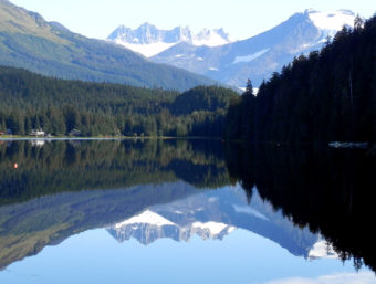 Auke Lake reflection.