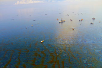 Deepwater Horizon oil well in the Gulf of Mexico. (Photo courtesy Green Fire Productions)