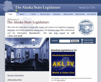 The Alaska Legislature homepage