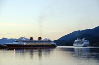 Disney and Princess cruise ships coming into Juneau