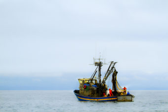 A fishing boat in Alaska.